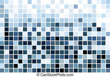 Blaues Mosaik, Tapete.