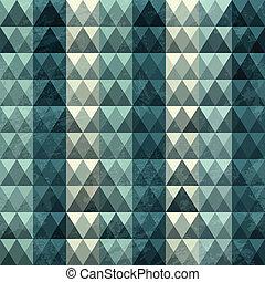 blaues, muster, dreieck, seamless