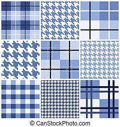 Blaues nahtloses Muster