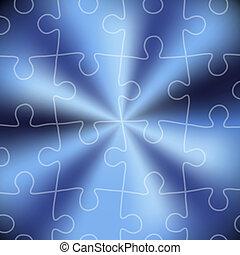 Blaues Puzzle abstrakter Hintergrund.