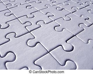Blaues Puzzlemuster