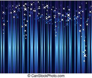 blaues, sternen, senkrecht, abstrakt, streifen, hintergrund