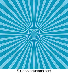 blaues, stil, hintergrund, sunburst