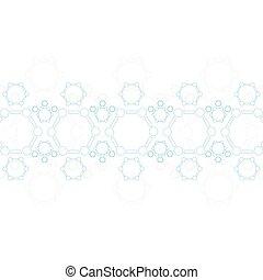 blaues, structure., abstrakt, molekül, hintergrund, medizin