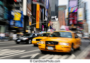 Blaues Taxi New York