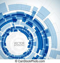blaues, technisch, abstrakt, hintergrund