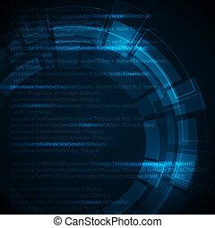 blaues, technisch, text, abstrakt, dunkel, ort, hintergrund, dein