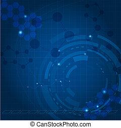 blaues, technologie, hintergrund