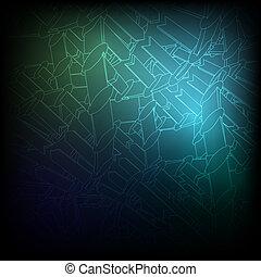 blaues, vektor, eps10, texture., hintergrund