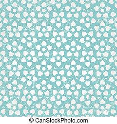 blaues, wallpaper., seamless, hintergrund., vektor, blumen-