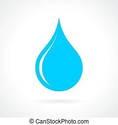 Blaues Wassertropfen.