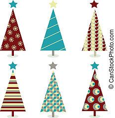 Blaues Weihnachtsbaum-Set