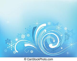 Blaues Weihnachtsmuster