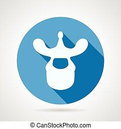 blaues, wirbel, brust-, vektor, ikone