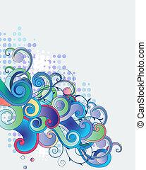 blaues, zweige, licht, abstrakt, phantasie, hintergrund