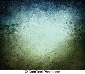 Blaugrüner Hintergrund.