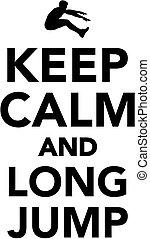 Bleiben Sie ruhig und lange springen.