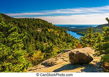Blick von Norden Blase, in acadia Nationalpark, Maine.