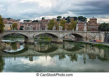 Blick zum Ponte Sant'angelo.