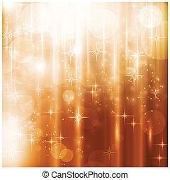 Blitzlichter und Sternen-Weihnachtskarte