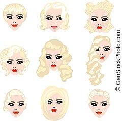 Blonde Haare.