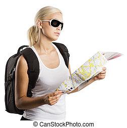 Blonder Tourist