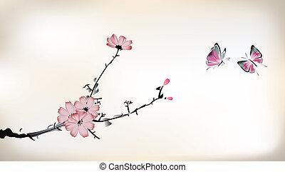Blossom-Gemälde.