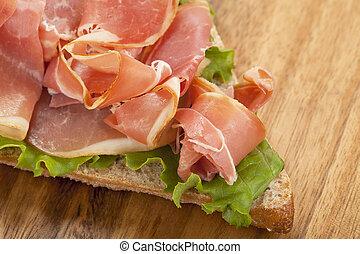 Blt-Sandwich-Vorbereitung