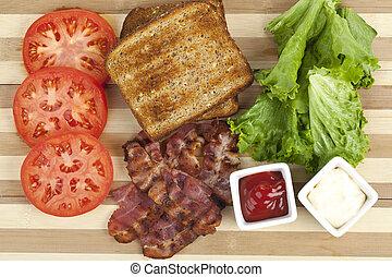Blt-Sandwich-Zutaten