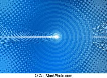 Blue abstrakter binärer Code Hintergrund.