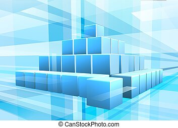 Blue Blocks Business Hintergrund.