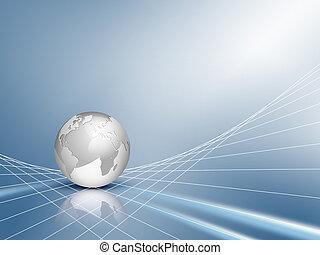 Blue Business Background mit Globus