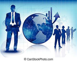 Blue Business und Technologie Hintergrund.