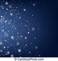 Blue Christmas Banner.