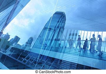 Blue City Glas Hintergrund