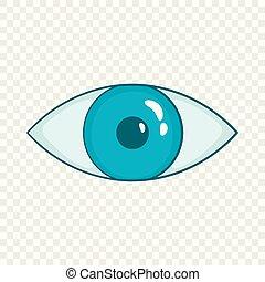 Blue Eye Icon im Zeichentrickfilm.