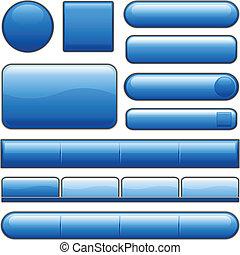Blue glossy Internet Knöpfe
