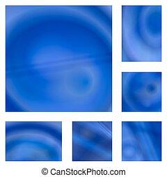 Blue gradient abstraktes Hintergrunddesign Set.