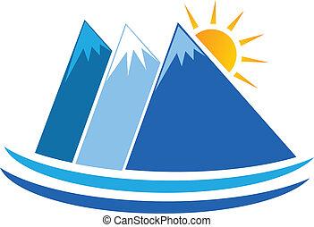 Blue Mountain Logo Vektor.