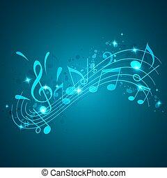 Blue Music Hintergrund.