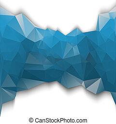 Blue poligonal.
