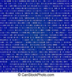 Blue Screen binary code screen.