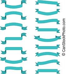 Blue Scroll Banner. Vector winkt Bänder