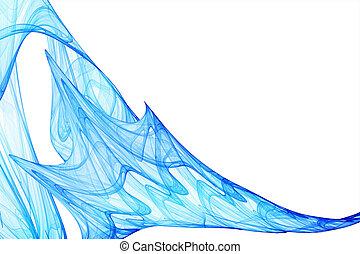 Blue wavy Hintergrund