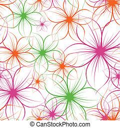 Blume nahtloser Hintergrund. Vector