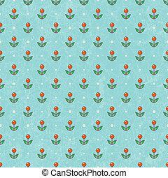 Blumen-Baby Tapete. Vektor EPS10.