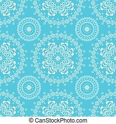 blumen-, blaues, abstrakt, seamless, backg