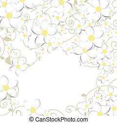 blumen-, fruehjahr, karte