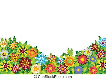 Blumen, Gartenvektor