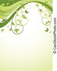 blumen-, grün, banner